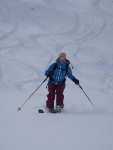 Powder skiing Courmayeur