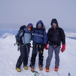 Mont Blanc summit with Steve Hartland