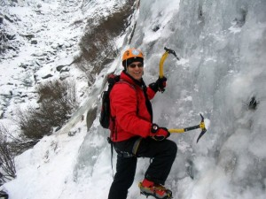 Ice climbing Chamonix with Steve Hartland Mountain Guide Chamonix