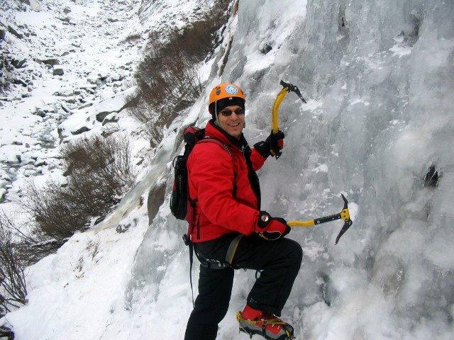 Ice climbing Chamonix with Steve Hartland Mountain Guide Chamonix