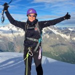 Yvonne Robertson in Chamonix with Mountain Guide Steve Hartland